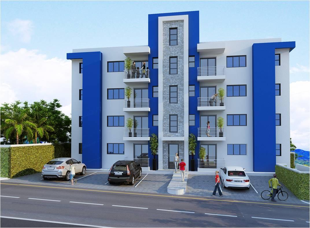 Apartamentos en venta ic inmobiliaria mi hogar dominicano for Fachadas para apartamentos pequenos